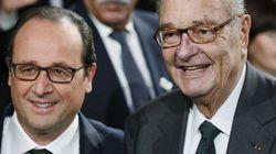 Chirac était apparu pour la dernière fois en public en 2014, avec