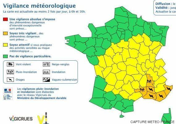 Alerte orages sur six départements du Sud-Est de la