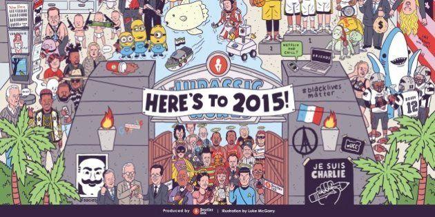 L'année 2015 résumée en un seul dessin de Luke