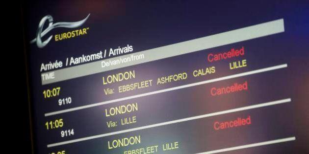 Près de 1300 passagers d'Eurostar bloqués plus de six heures dans des trains en provenance de