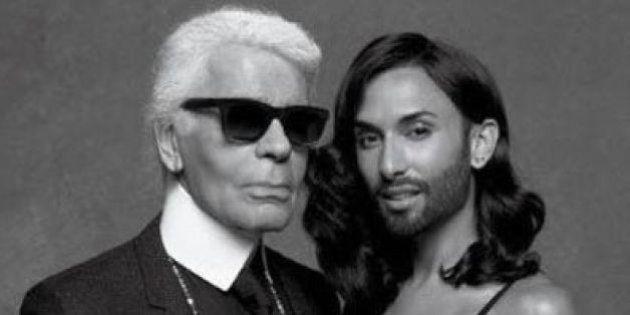 PHOTOS. Conchita Wurst pour Karl Lagerfeld, les premières