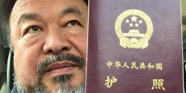 PHOTO. La Chine a rendu son passeport à l'artiste chinois Ai
