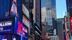 Times Square aux couleurs du