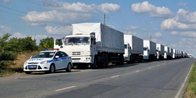 Ukraine : Le convoi humanitaire russe passe la frontière. Kiev dénonce une