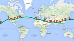 Le chemin parcouru par Solar Impulse 2 qui a atterri à Abou Dhabi après un tour du monde sans