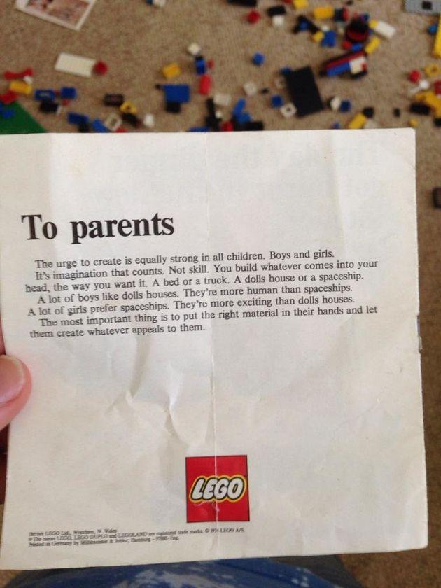 PHOTO. Cette lettre Lego aux parents des années 1970 est toujours d'actualité 40 ans plus
