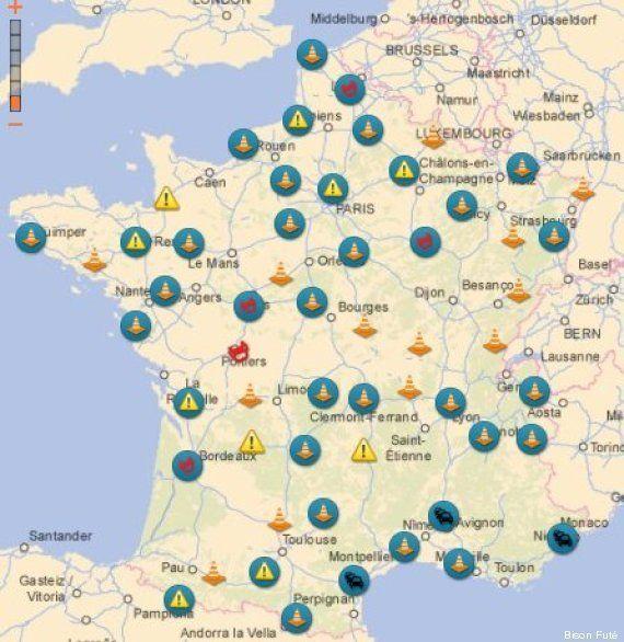 Info trafic : Bison futé voit orange dimanche 24 août dans le sens des retours et vert pour les