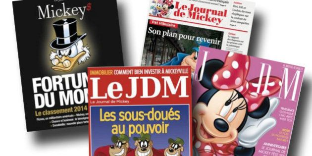 Le journal de Mickey fête ses 80 ans en parodiant Elle, Challenges, Le Point, 01