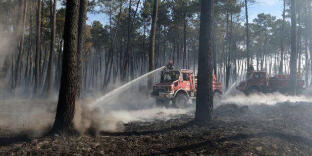 PHOTOS. Gironde : 4e journée de lutte contre le gros incendie près de