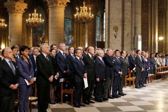 A défaut d'unité nationale, rassemblement de politiques à Notre-Dame de Paris pour une messe