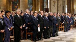 A défaut d'unité nationale, rassemblement de politiques à Notre-Dame de