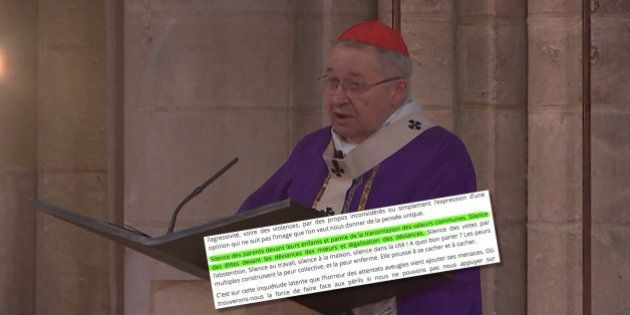 André Vingt-Trois a-t-il profité de la messe d'hommage à Jacques Hamel pour critiquer le mariage pour