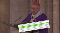 André Vingt-Trois a-t-il profité de la messe pour critiquer le mariage pour