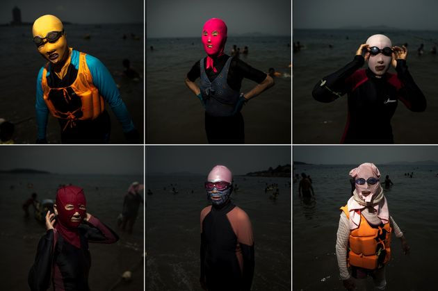 PHOTOS. En Chine, sur les plages, le facekini fait