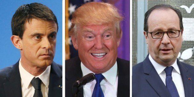 François Hollande et Manuel Valls répondent à Donald Trump selon qui