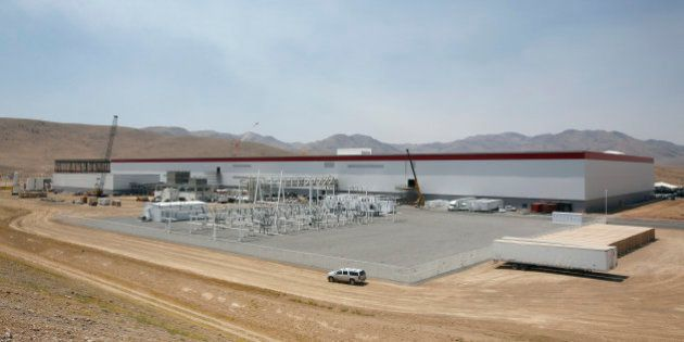 An overall view of the new Tesla Gigafactory is seen during a media tour Tuesday, July 26, 2016, in Sparks,...