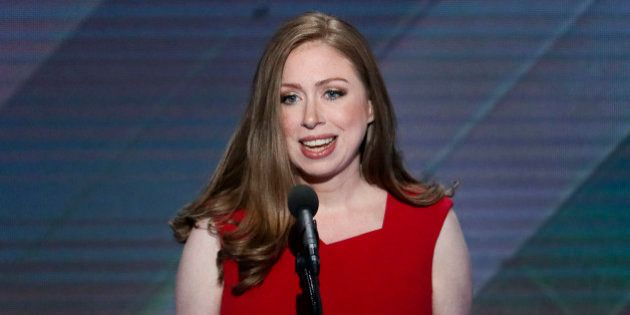 Chelsea Clinton, daughter of Democratic presidential nominee Hillary Clinton speaks during the final...
