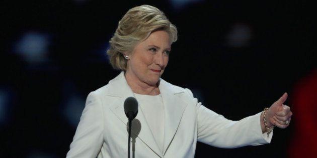5 passages optimistes du discours de Hillary Clinton à Philadelphie pour contrer le pessimisme de Donald