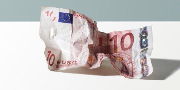 Crumpled 10 Euro