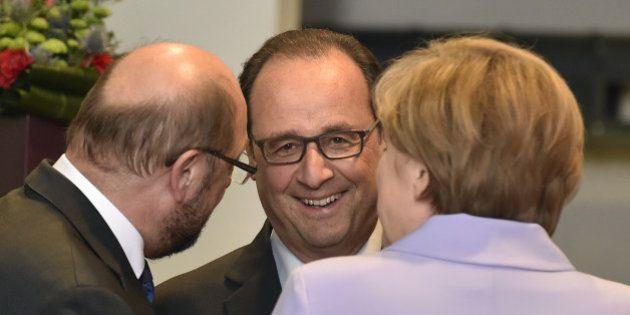 Hollande et Merkel au Parlement européen: la crise des migrants