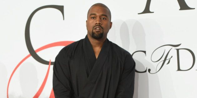 Kanye West arrives at the 2015 CFDA Fashion Awards at Alice Tully Hall on Monday, June 1, 2015, in New...