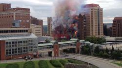 VIDEO. Une destruction d'immeuble sous les feux