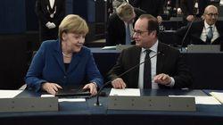Les eurodéputés saluent le discours de Hollande et Merkel, sauf les