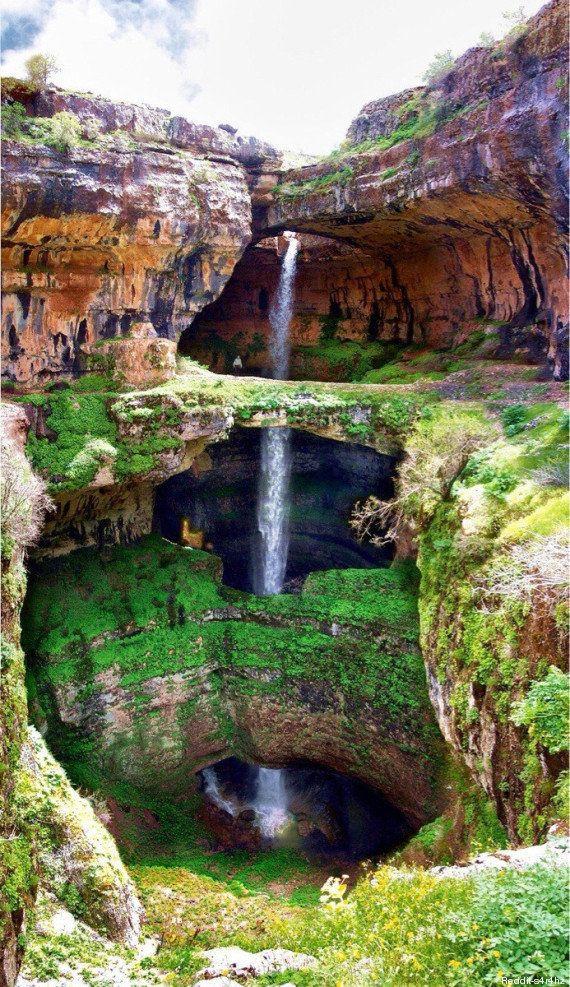 PHOTOS. Cette cascade sur trois étages au Liban est