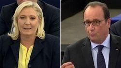 On a recréé l'affrontement entre Le Pen et Hollande à
