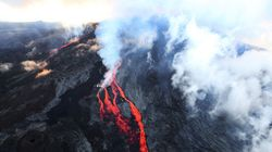 Le Piton de la Fournaise est entré en éruption à La