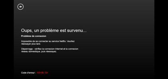 Netflix: une panne en Europe pour le premier dimanche soir après son