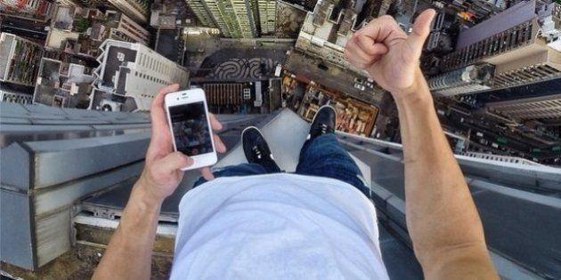 VIDÉO - Le selfie le plus vertigineux du