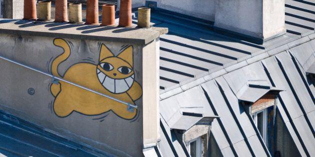 Vu de la terrasse du centre national d'art et de culture Georges-Pompidou - Beaubourg -