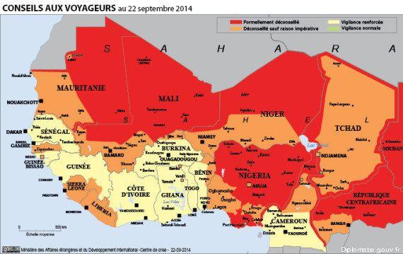 Menaces de l'État islamique (EI): la carte des pays où le Quai d'Orsay appelle à