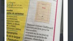 La drôle de petite annonce de Gallimard dans