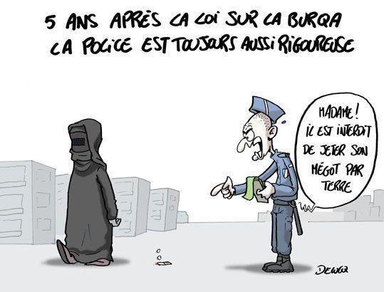 Loi contre la burqa 5 ans