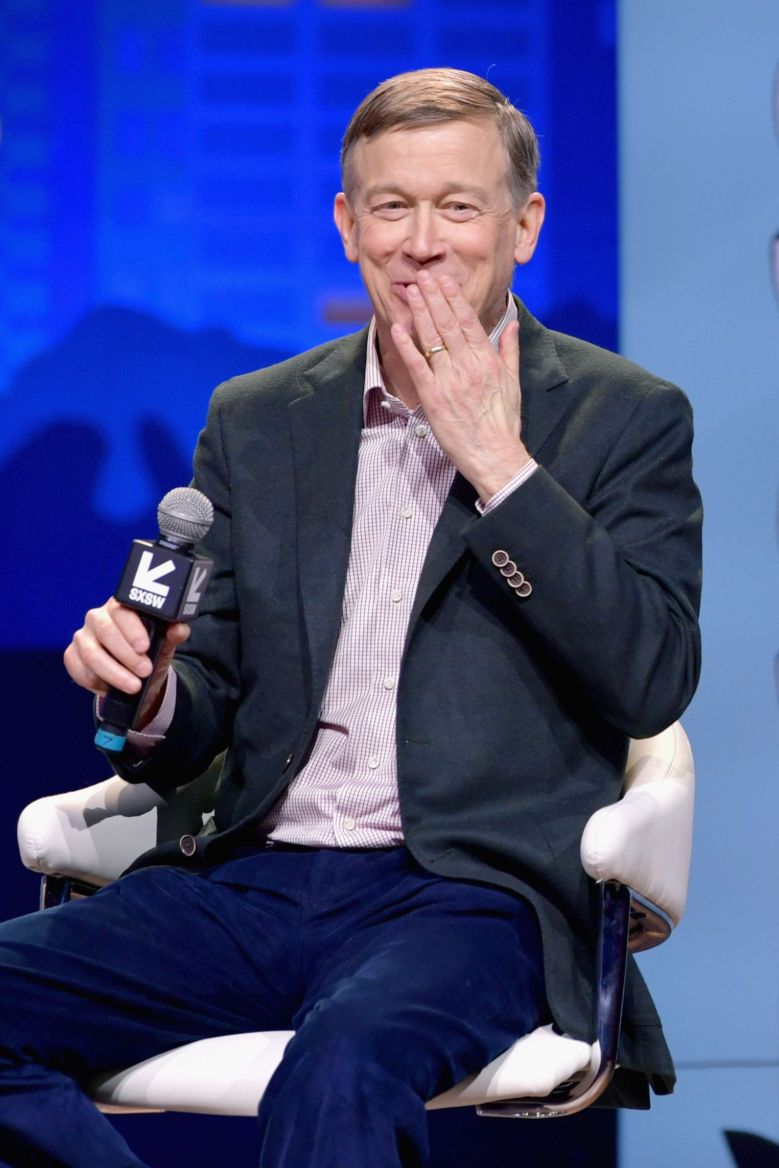 AUSTIN, TX - MARCH 10:  John Hickenlooper speaks onstage at Conversations About America's Future: Former Governor John Hickenlooper during the 2019 SXSW Conference and Festivals at Austin City Limits Live at the Moody Theater on March 10, 2019 in Austin, Texas.  (Photo by Danny Matson/Getty Images for SXSW)