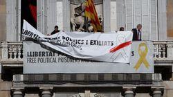 Torra desafía a la Junta Electoral con otra pancarta a favor de los