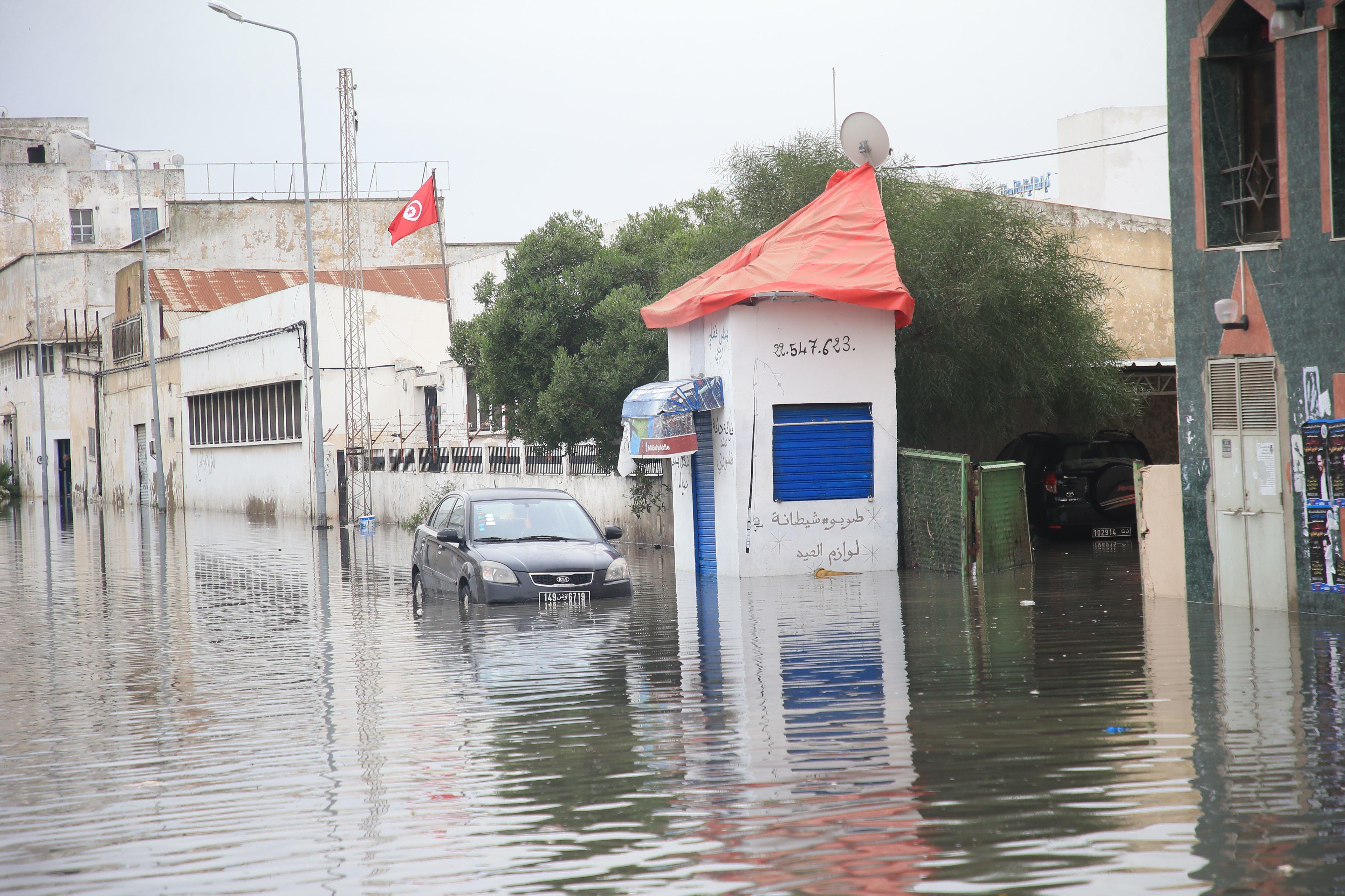 Tunisie: Plusieurs routes coupées à causes de fortes