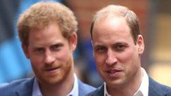 Los príncipes Enrique y Guillermo, presuntamente