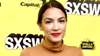 AUSTIN, TEXAS - MARCH 10: Alexandria Ocasio-Cortez attends the premiere of 'Knock Down This House' during the 2019 SXSW Conference And Festival at the Paramount Theatre on March 10, 2019 in Austin, Texas. (Photo by Tim Mosenfelder/Getty Images)