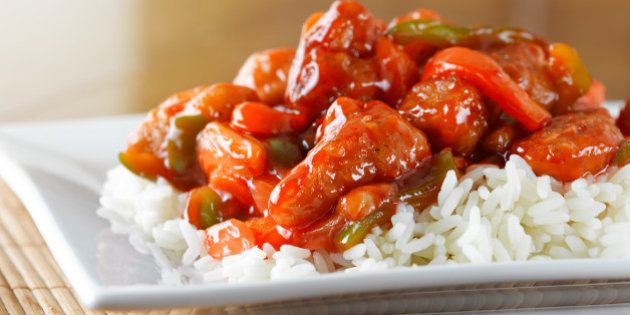 sweet and sour pork on