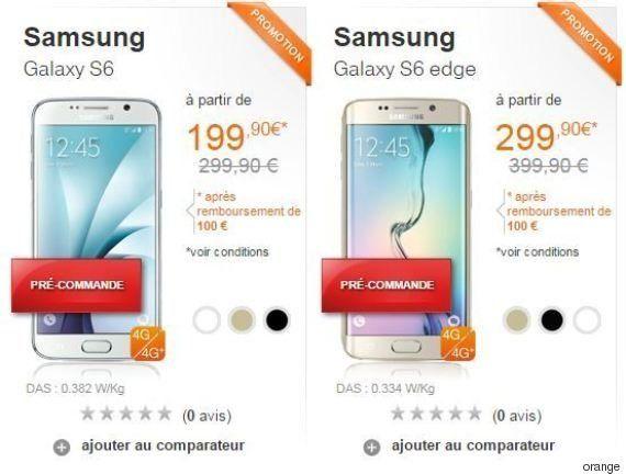 Galaxy S6 - Orange, Free, SFR, Bouygues : quel opérateur le propose au meilleur prix (avec et sans