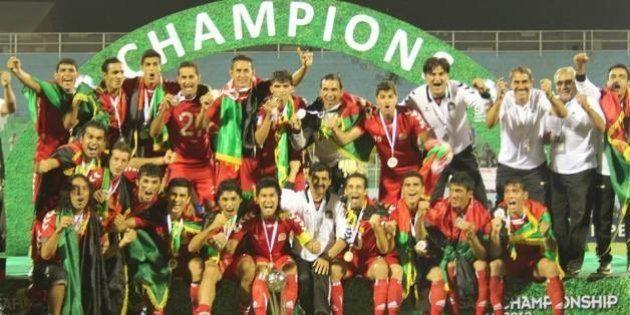 Football: L'Afghanistan champion d'Asie du Sud accueilli en héros à Kaboul après un rare