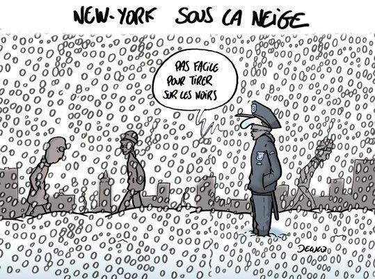 Neige à New York: beaucoup de bruit pour