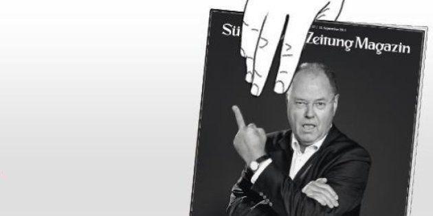 Peer Steinbrück, le rival social-démocrate de Merkel fait le buzz avec un doigt