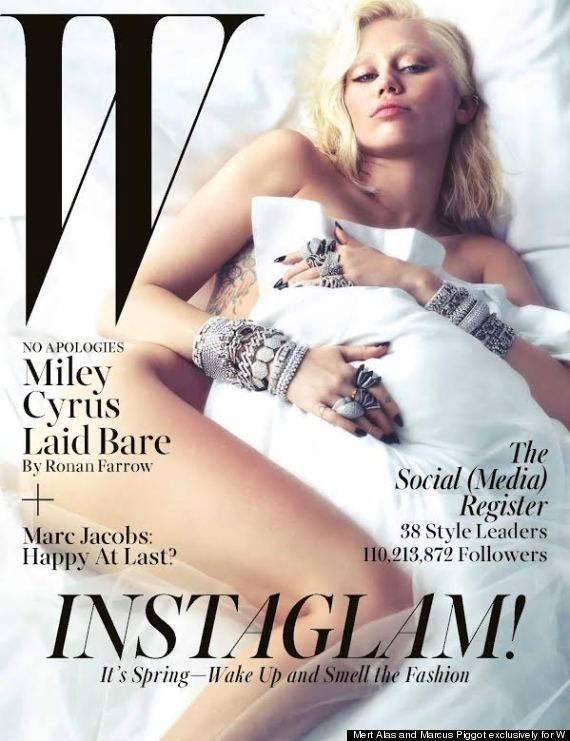 PHOTOS. Miley Cyrus joue les Lady Gaga en couverture de W