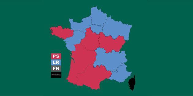 Découvrez tous les résultats des élections régionales 2015, région par