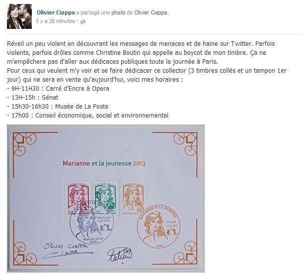 Le nouveau timbre inspiré d'une femen : les anti-mariage gay appellent au