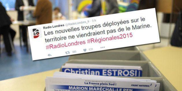 Les tweets de #RadioLondres ont donné les résultats du vote dès